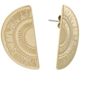 Lucky Brand Semicircle Modern Etched Earrings